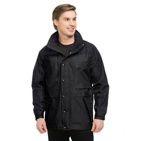 - Tri-Mountain Climax 9300 Colorblock nylon parka, 2X-Large, Black/Black