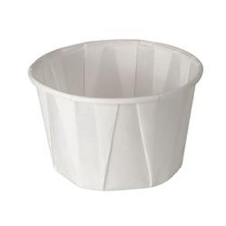 Solo Souffle Cup White Paper Disposable 2 oz., 2 Sleeves of