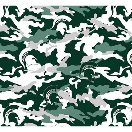 Michigan State Camouflage Fleece Fabric Sold by the yard