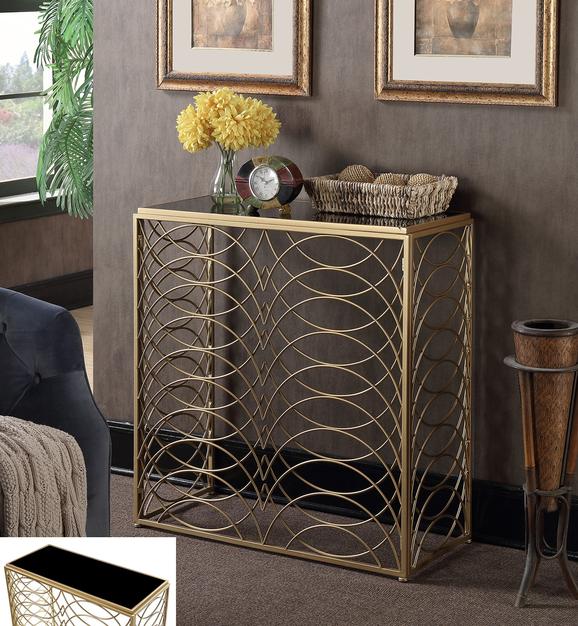 Convenience Concepts Gold Coast Tranquility Console Table, Multiple Finishes by Convenience Concepts