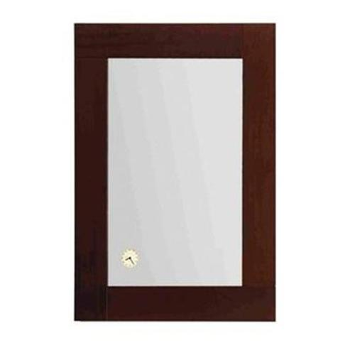 Whitehaus Collection  AMET02 35. 50 inch Antonio Miro rectangular mirror with iroko wood frame and a built-in clock- Ebony