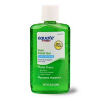 (2 pack) Equate Burn Relief Gel with Lidocaine, 8 oz