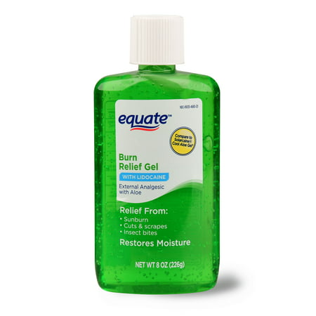 Equate Burn Relief Gel with Lidocaine, 8 oz - Lidocaine Burn Relief
