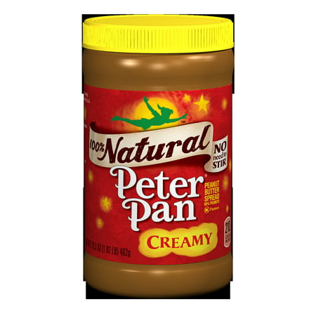 Peter Pan 100  Natural Creamy Peanut Butter Spread  16 3 Ounce