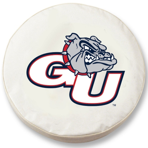 NCAA Tire Cover by Holland Bar Stool - Gonzaga Bulldogs, White - 30 L x 10 W
