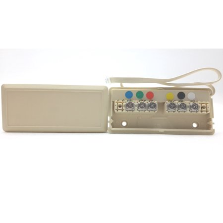Submersible Junction Box (Leviton Telephone Wire Junction Box 6-Wire Ivory C2618-I )