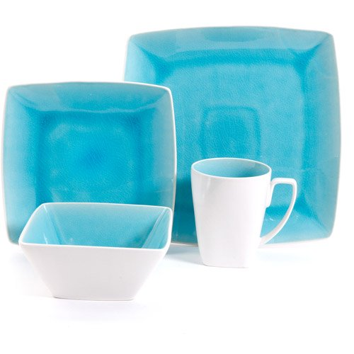 Gibson Studio Pleasanton 16-Piece Dinnerware Set, Square - Walmart.com