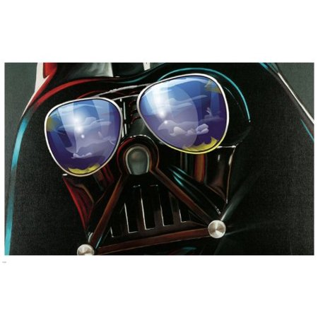 Hilarious Star Wars Darth Vader Glamour Aviator Sunglasses Poster 24X36