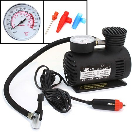 stkusa 12v mini air compressor pump 300psi tire inflator, with gauge