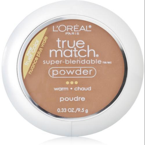 L'Oreal True Match Powder, Creme Cafe [W8], 0.33 oz (Pack of 3)