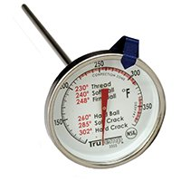 TAYLOR 3505 Multi-Use Candy/Deep Fry Thermometer, -40 to 450 deg F, Analog Display