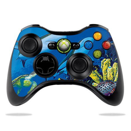 Skin For Microsoft Xbox 360 Controller - Shark Buddies | MightySkins Protective, Durable, and Unique Vinyl Decal wrap cover | Easy To Apply, Remove, and Change Styles ()