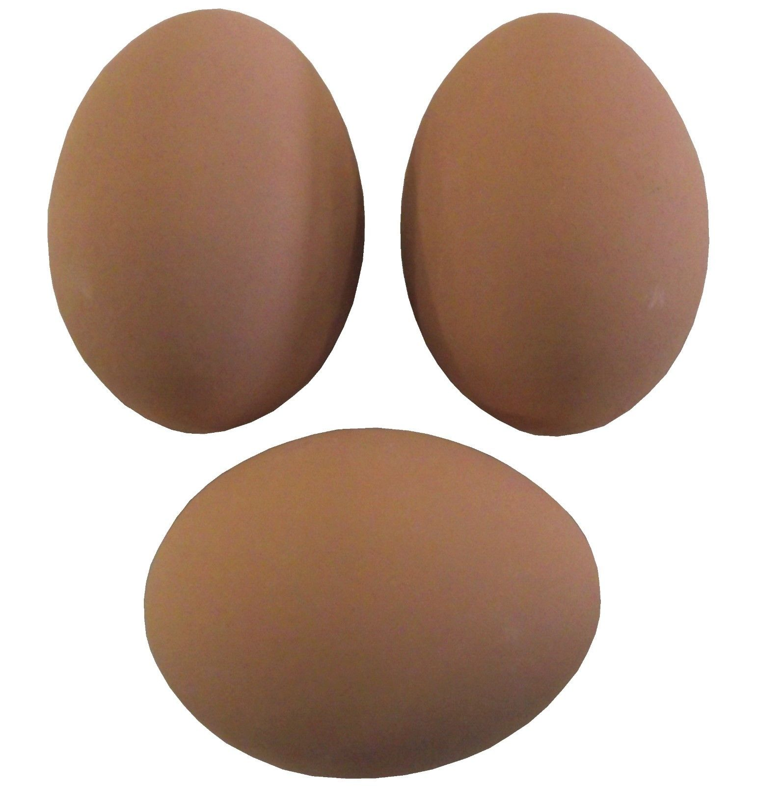 3 PACK BROWN CERAMIC DUMMY CHICKEN NESTING NEST FAKE TRAINING EGG HATCHING CRAFT