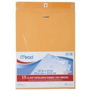 "Mead Clasp Envelopes, 10 x 13"", 15 Count"