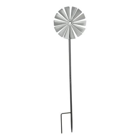 Mainstays Daisy Flower Metal Wind Spinner in Silver](Flower Wind Spinner)