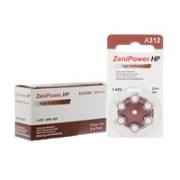 ZeniPower size A312 Hearing Aid Batteries (120 pack)
