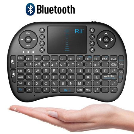 Rii Mini Bluetooth Touchpad Keyboard for PC/PAD/360XBox/PS3/Google Android TV Box/HTPC/IPTV, Black(i8 BT) (Tv Keyboard)