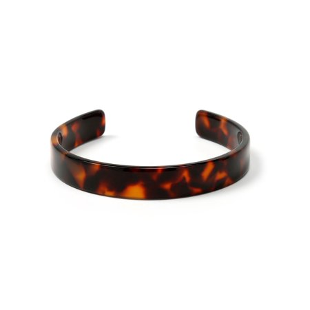 Bling Jewelry Acrylic Tortoise Shell Thin Brown Cuff Bracelet