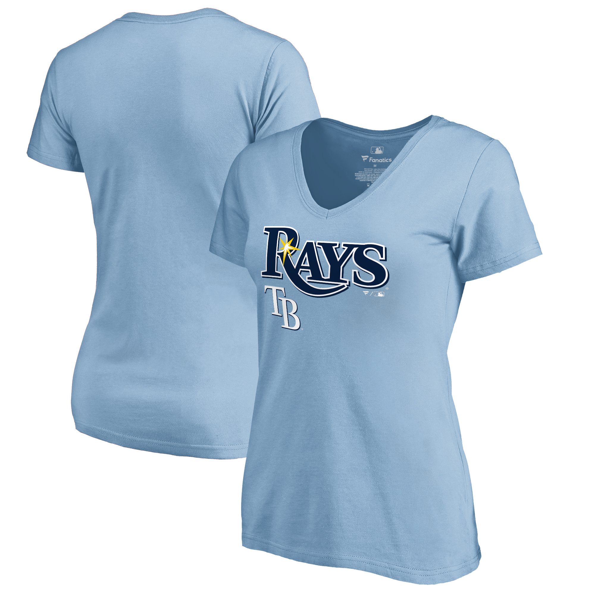 Tampa Bay Rays Fanatics Branded Women's Team Lockup T-Shirt - Light Blue