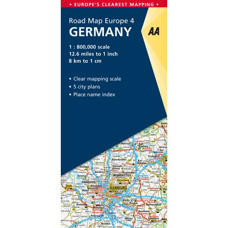 Road map germany - folded map: 9780749579166 (Aa Road Map)