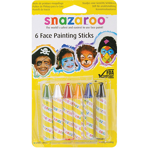 Snazaroo Face Painting Sticks 6/pkg
