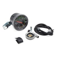 Universal Black Mechanical Resettable Odometer Speedometer for Bike Bicycle