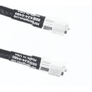 Times Microwave LMR-400 50 ohm Coaxial Ham/CB Radio Antenna Transmission Line Cable - PL-259 Connectors - (50 FT)