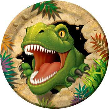 Dinosaur Adventure Party Supplies 32 Pack Lunch Plates (Dinosaur Birthday Party Supplies)