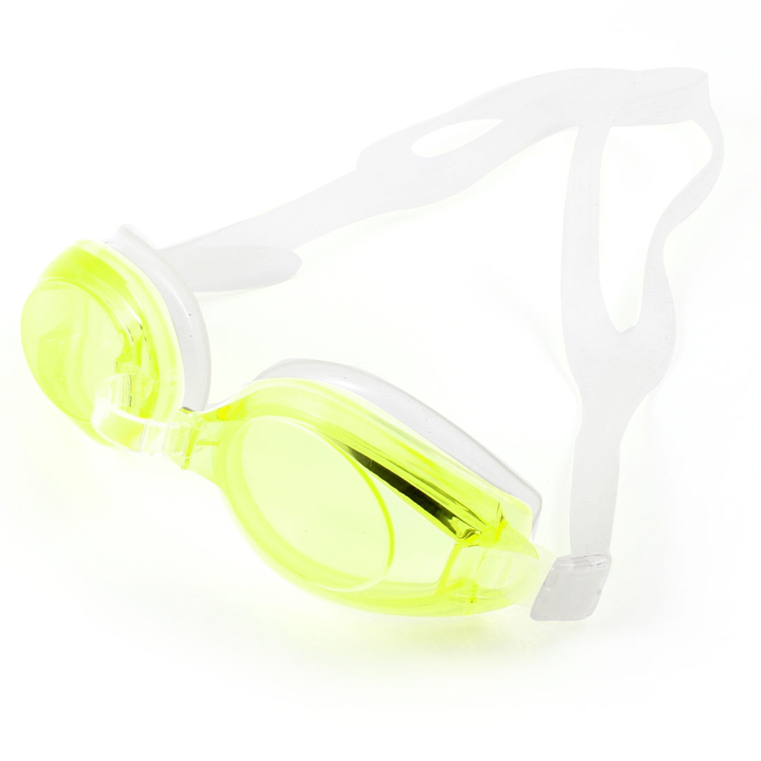 Stretchy Rubber Strap Anti-fog Underwater Glasses Swim Goggles w Earplugs For Children by