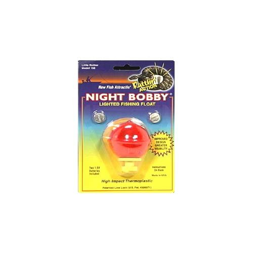 Night Bobby Light Float, Small Round, Red