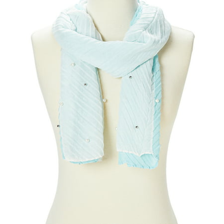 Elegant Scarfs for Women Pleated Scarves Spring Summer Casual Evening Scarf Long Neck Wraps for Ladies Gifts Online by - Neck Spring