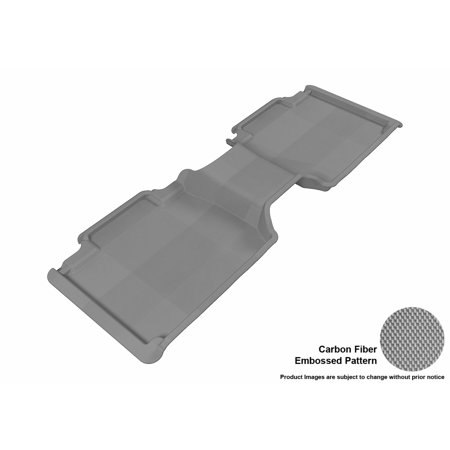 Access Cab Models - 3D MAXpider 2005-2011 Toyota Tacoma Access Cab Second Row All Weather Floor Liner in Gray with Carbon Fiber Look