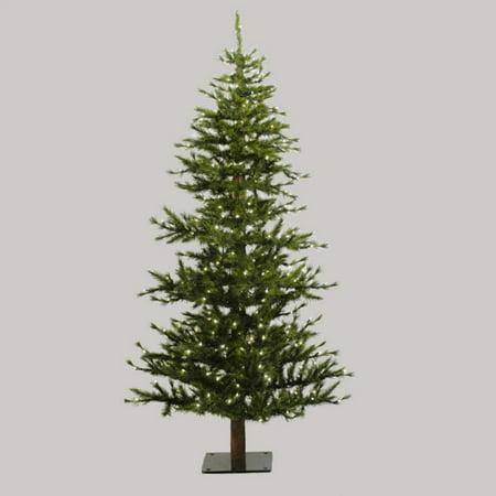 7 Pre Lit Minnesota Alpine Style Half Wall Christmas Tree   Clear Lights