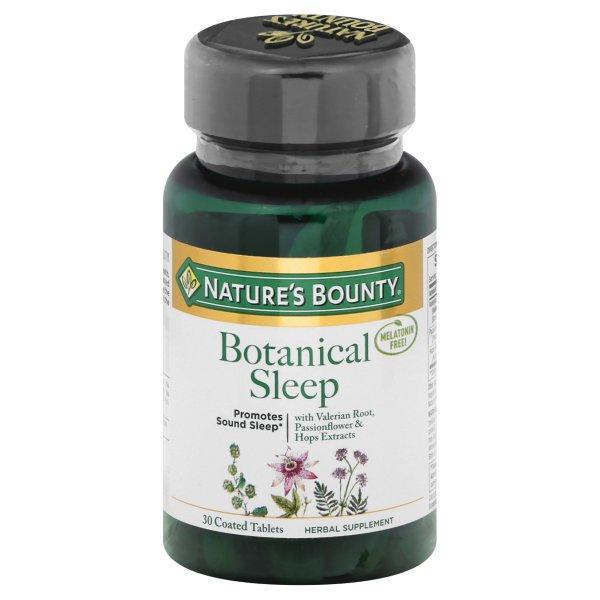 bounty sleep nature botanical tablets walmart coated