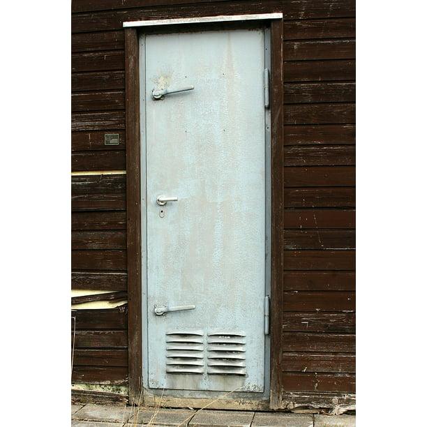 Steel Door Security Door Door Metal Door Metal 20 Inch By 30 Inch Laminated Poster With Bright Colors And Vivid Imagery Fits Perfectly In Many Attractive Frames Walmart Com Walmart Com