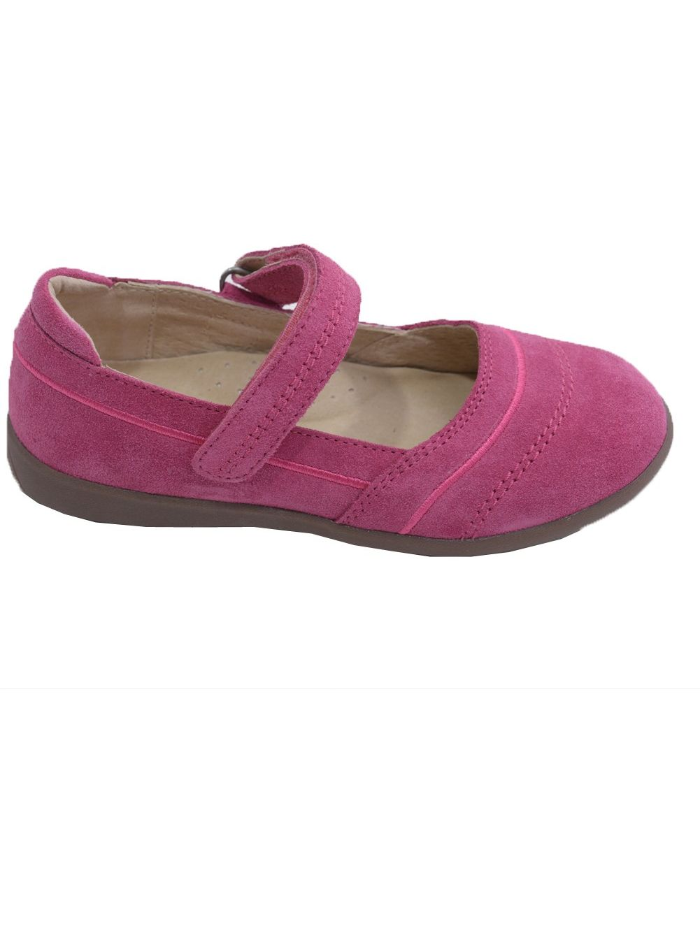 L'Amour Little Jane Girls Fuchsia Sporty Nubuck Leather Mary Jane Little Shoes 11-2 Kids 3d0f54