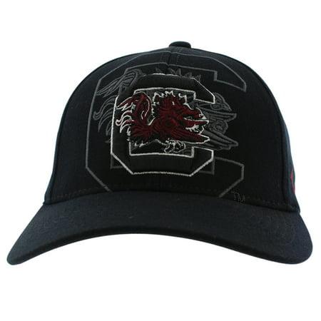 Zephyr Mens South Carolina Gamecocks College Covert Custom Stretch Hat Black (Cheap Custom Hats)