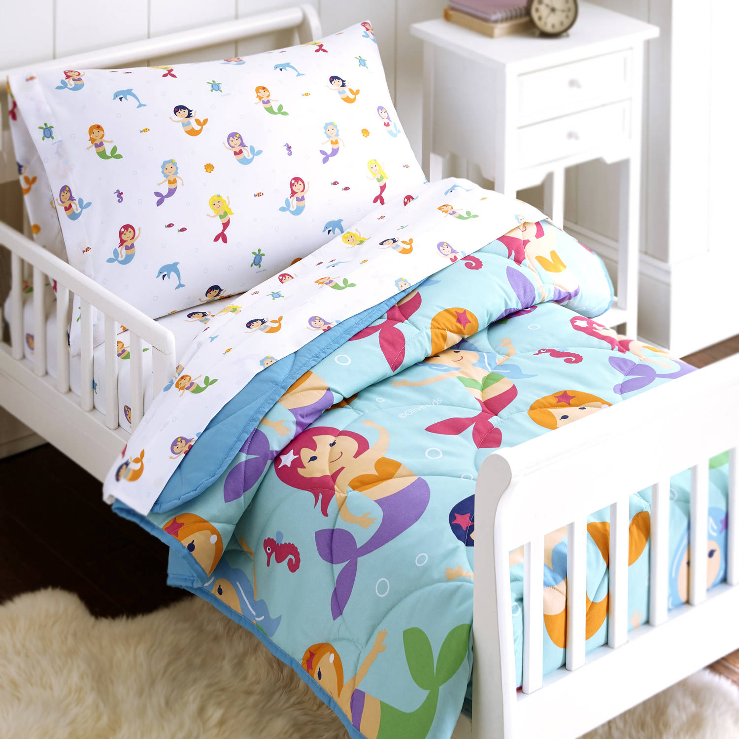 toddler girl bed olive mermaids 4 bed in a bag toddler bedding 11374