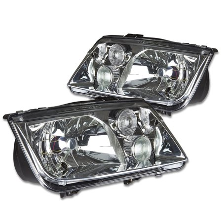 For 1999 to 2005 Volkswagen VW Jetta OE Style Headlight Chrome Housing Headlamps A4 Typ 1J 00 01 02 03 04 Left+Right