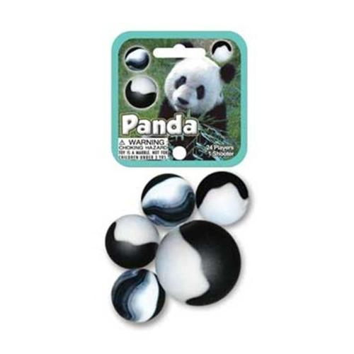 Glass Mega Marbles Panda Game Net Set (25 Piece)