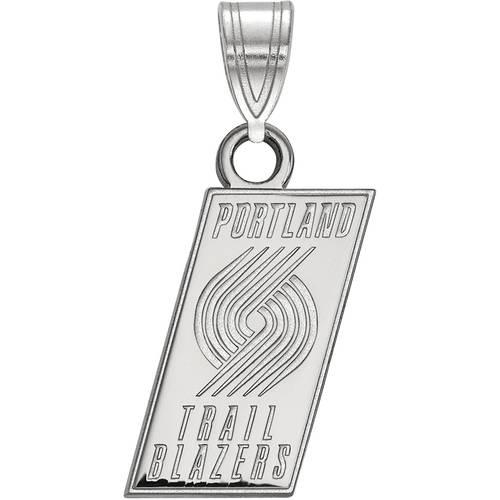 LogoArt NBA Portland Trail Blazers 10kt White Gold Small Pendant