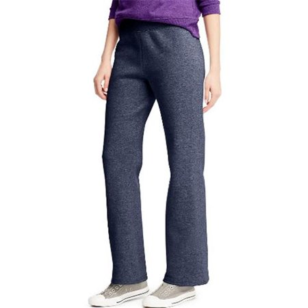 Womens Navy Fleece (O4629 Comfortsoft Eco Smart Womens Open Leg Fleece Sweatpants, Navy Heather - Medium)