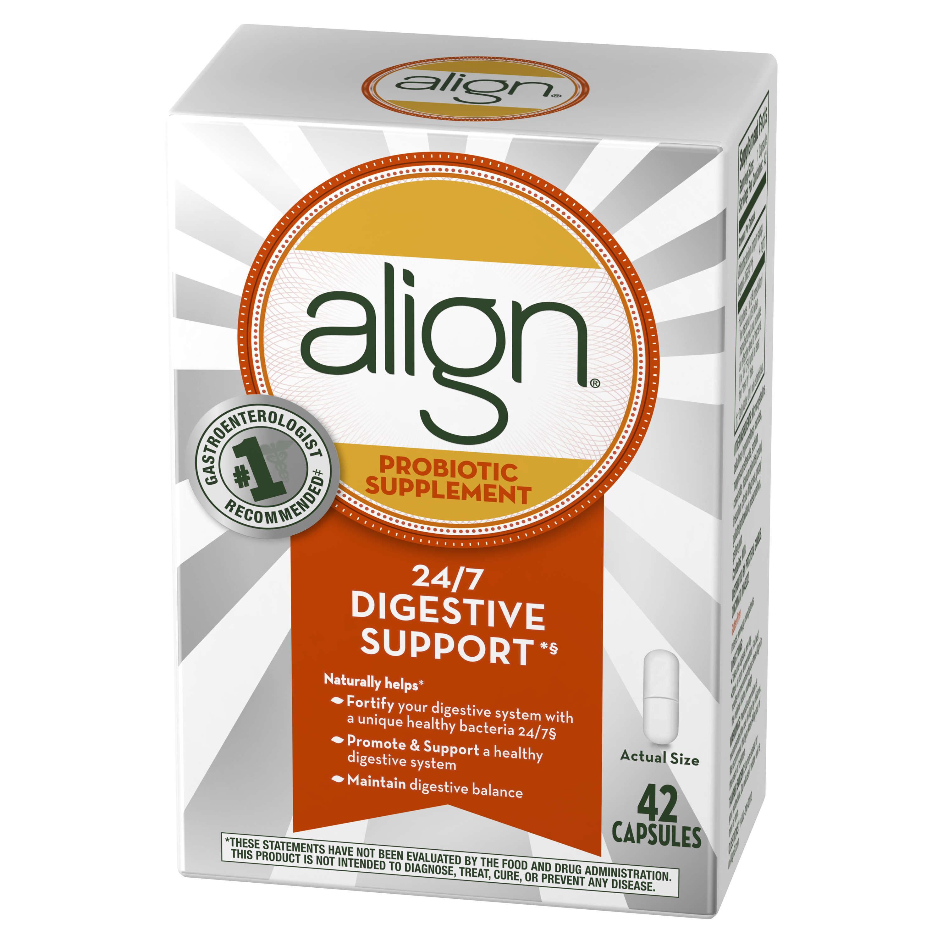 align probiotic supplement 42 count walmart