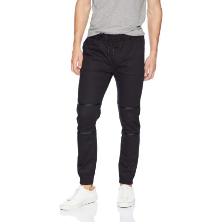 Middle Waist Elastic - Men's Stretch Twill Elastic Waist Slim Fit Jogger Pants