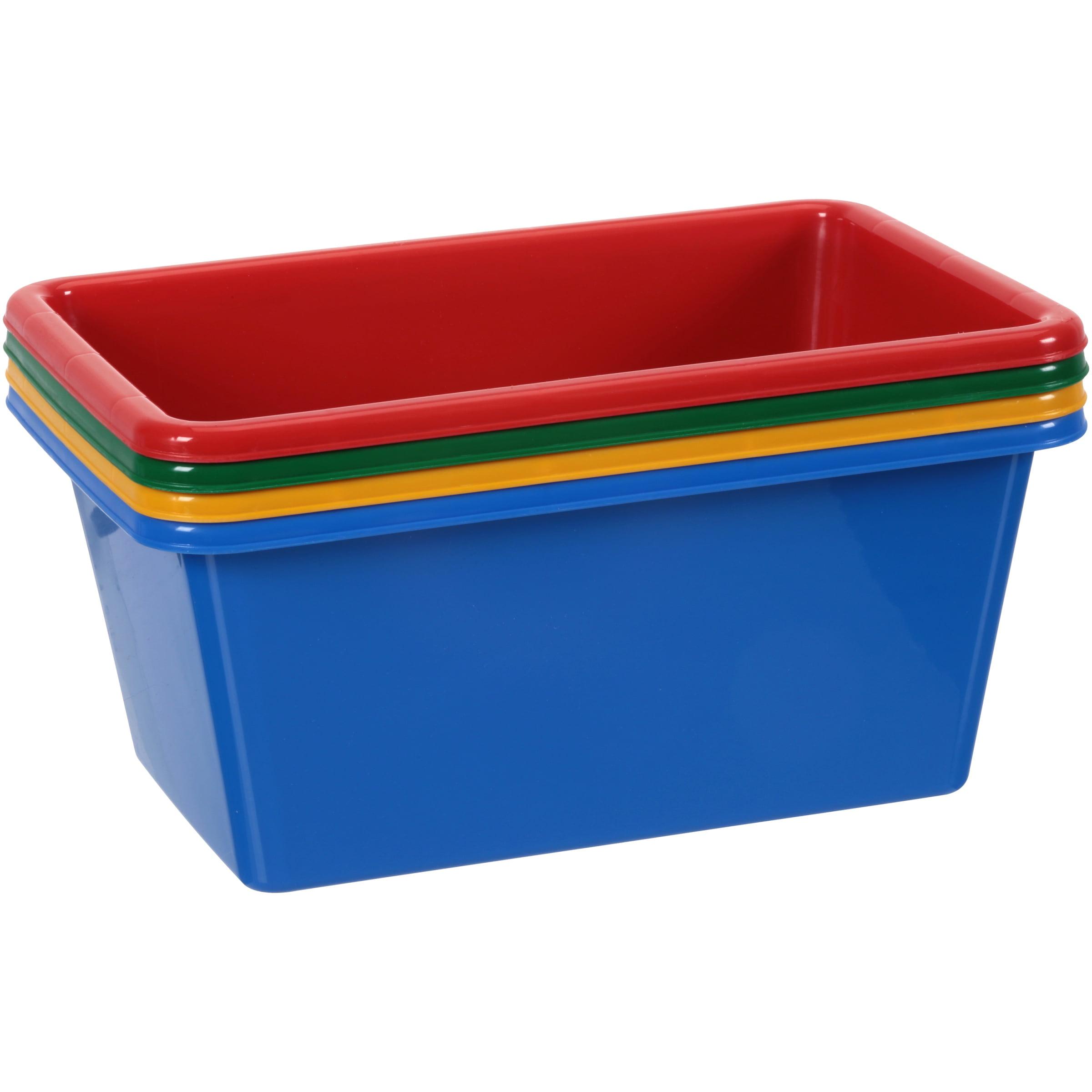 Tot Tutors Small Bins Primary Color Toy Storage Bins 4 ct Pack