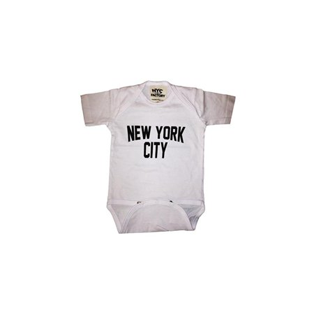 Nyc Factory New York City Baby Bodysuit Screen Printed Lennon