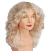 Star Power Women Feather Singer Costume Wig, Blonde, One Size