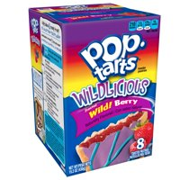 Kellogg's Pop-Tarts Breakfast Toaster Pastries, Wildlicious Frosted Wild Berry Flavored, 15.2 oz 8 Ct