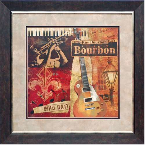 North American Art Rue Bourbon by Conrad Knutsen Framed Vintage Advertisement