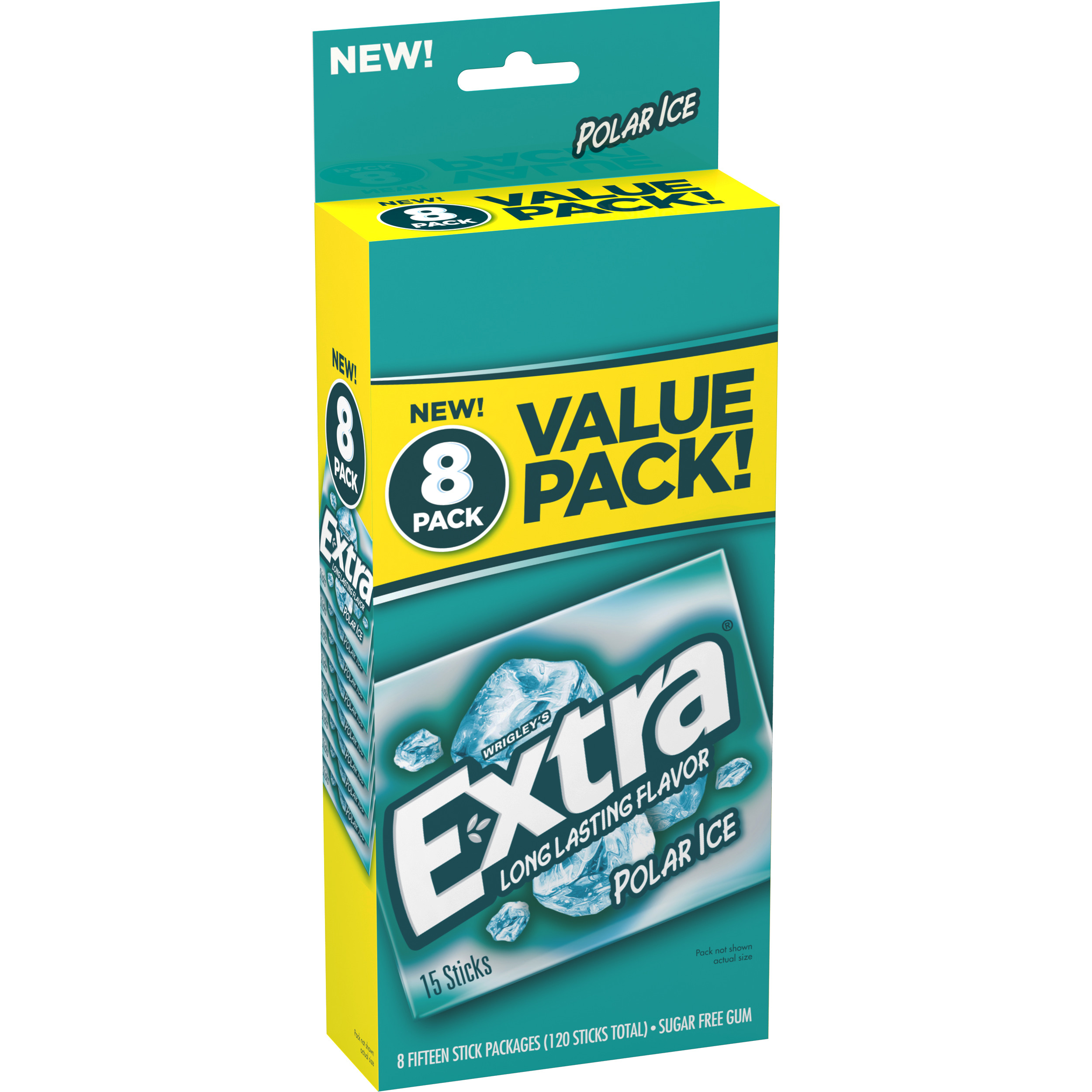 Extra Polar Ice Sugar Free Gum, 14 pc, 8 count by Generic
